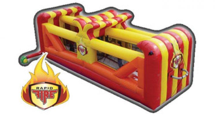 Rapid Fire Inflatable Bouncer Game